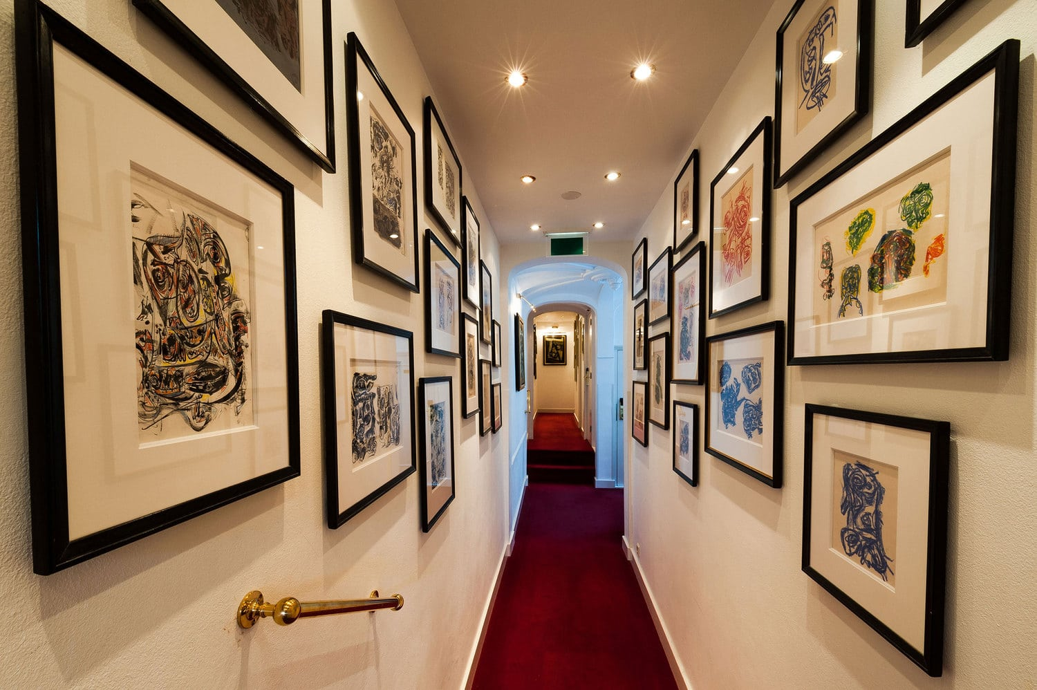 Walkways and hallways are covered in art, and everything has a history and a story to tell