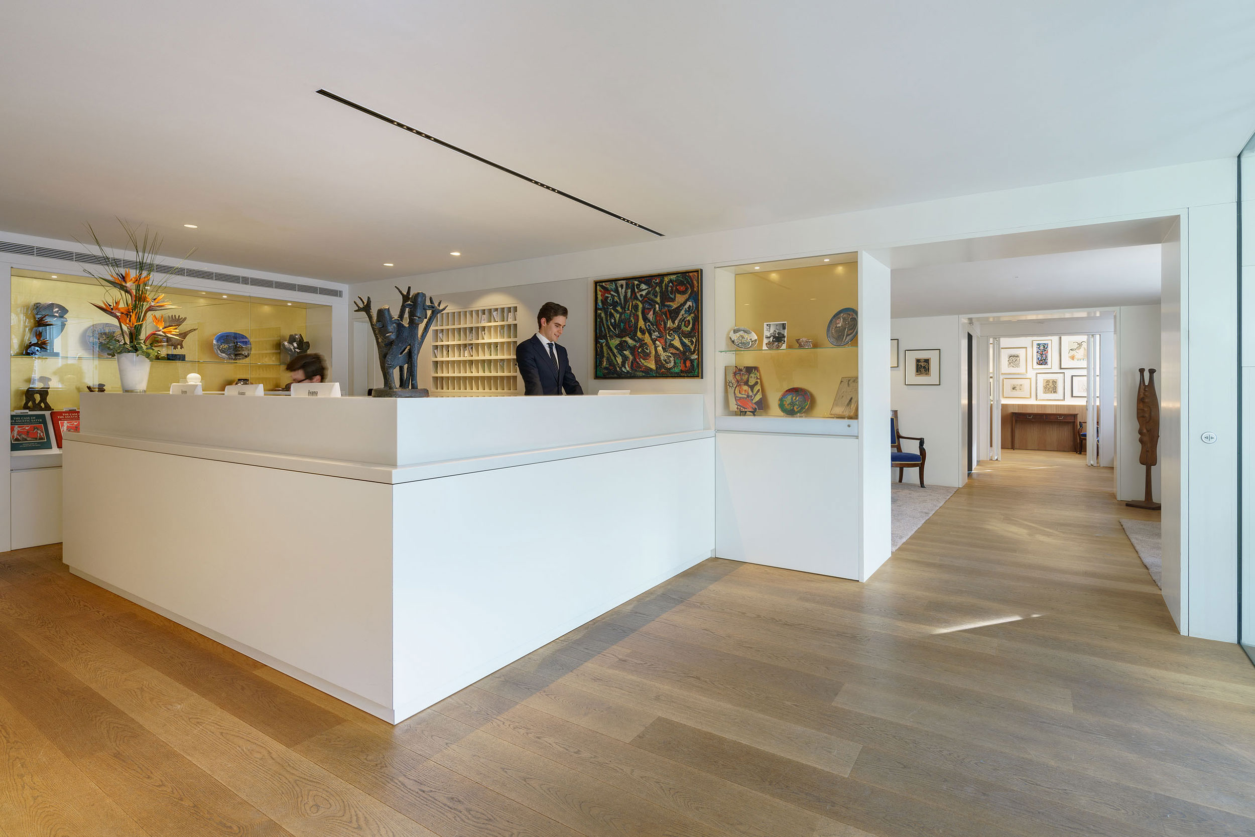 Our reception facing the Herengracht in Amsterdam designed by Cruz y Ortiz Arquitectos